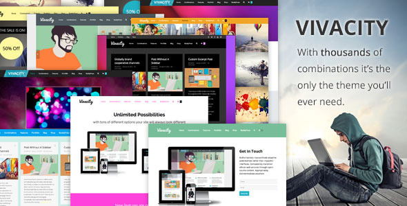 Vivacity: Ultimate Responsive Multi-purpose Theme - Corporate WordPress