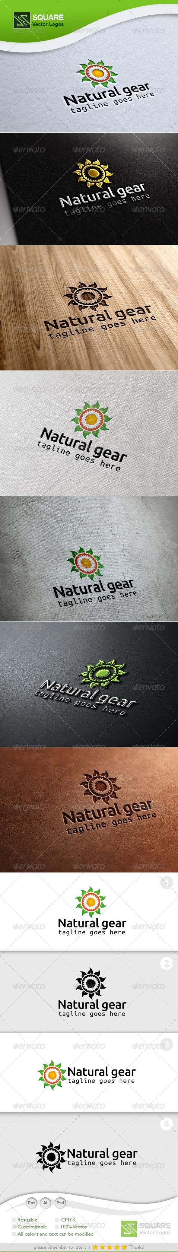 Leafs, Gear Vector Logo Template - Symbols Logo Templates