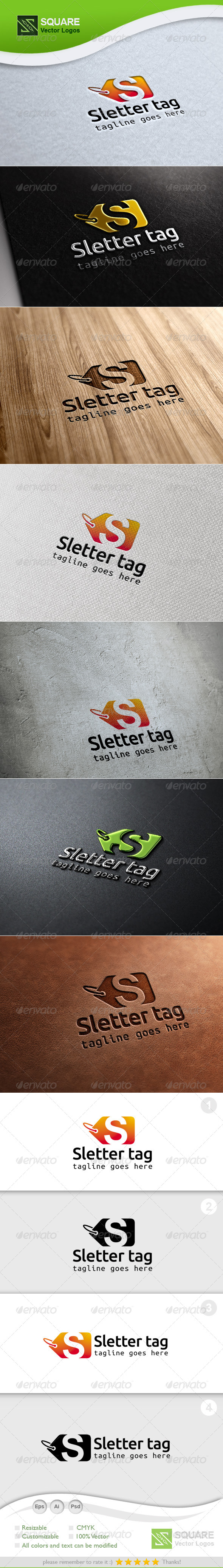 GraphicRiver S Tag Vector Logo Template 6789567