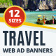 Multipurpose Travel & Vacations Web Ad Banners