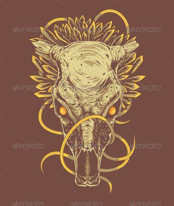 GraphicRiver Bull Skull 6789914