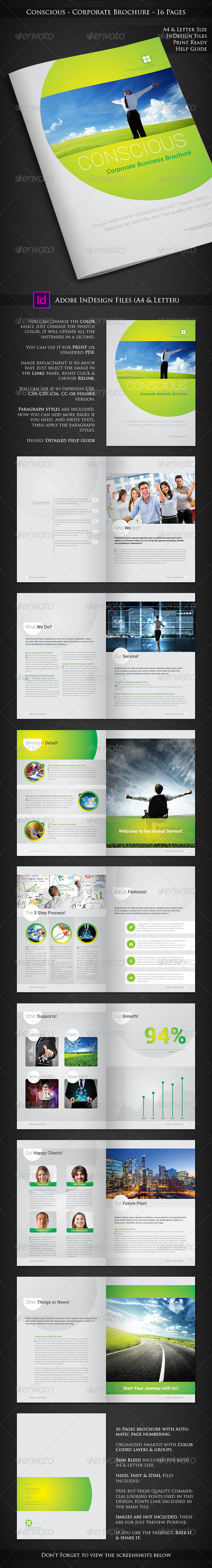 Conscious - Corporate Brochure Design - 16 Pages