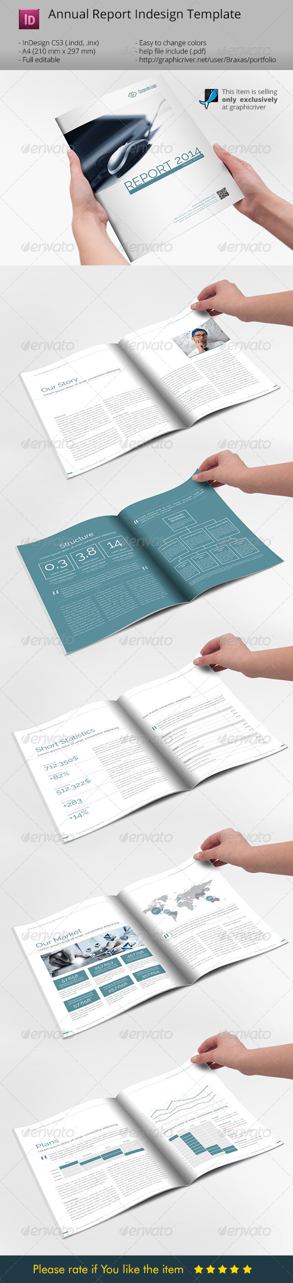 GraphicRiver Minimalistic Sharp Annual Report Brochure 6790010