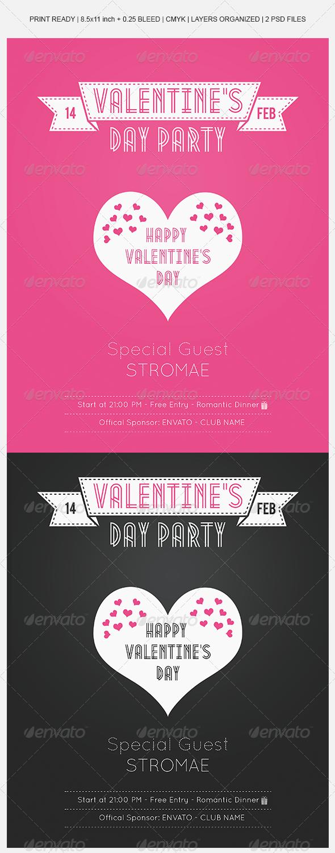 GraphicRiver Valentine s Day Modern Flyer 6790012
