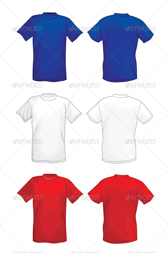 GraphicRiver Colored T-shirt Design Template Front & Back 6790038