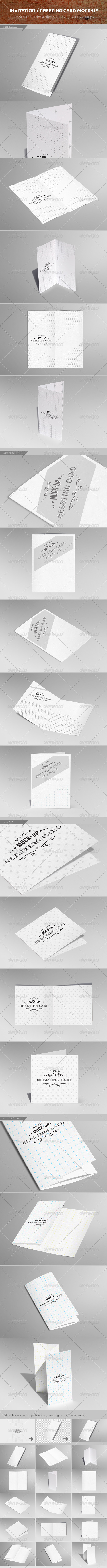 GraphicRiver Invitation Greeting Card Mock-up 6696852