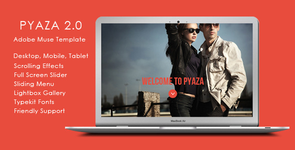 ThemeForest Pyaza Multi-purpose Muse Template 6691295