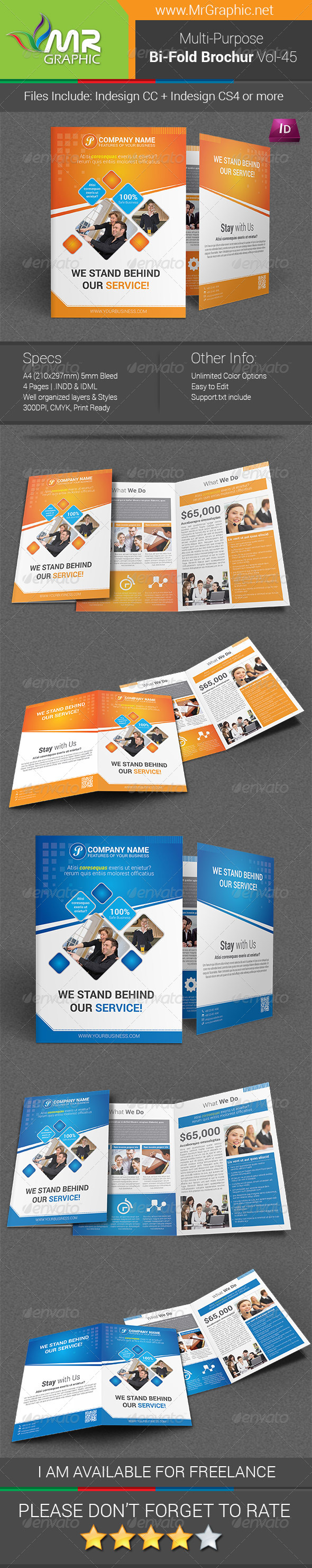 GraphicRiver Multipurpose Bifold Brochure Template Vol-45 6790532