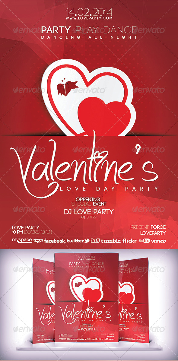 GraphicRiver Valentines Love Party Flyer 6790685
