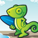Chameleon on a Beach - GraphicRiver Item for Sale