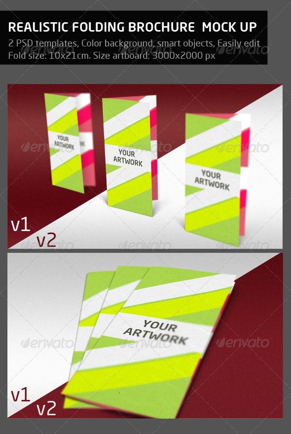 GraphicRiver Folded Brochure Mock-Up 710088