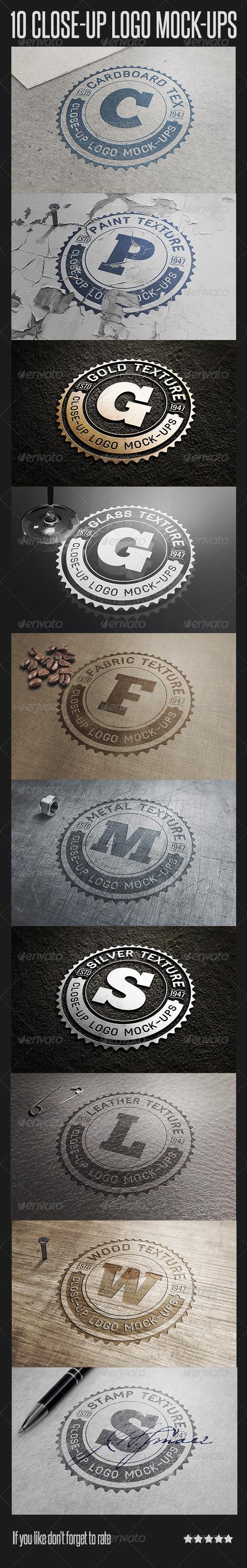 GraphicRiver 10 Close-Up Logo Mock-Ups 6757489