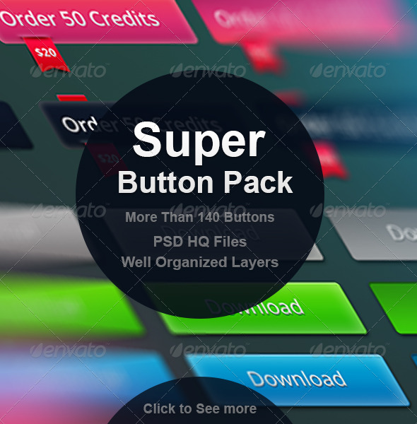 GraphicRiver Super Button Pack 6790897