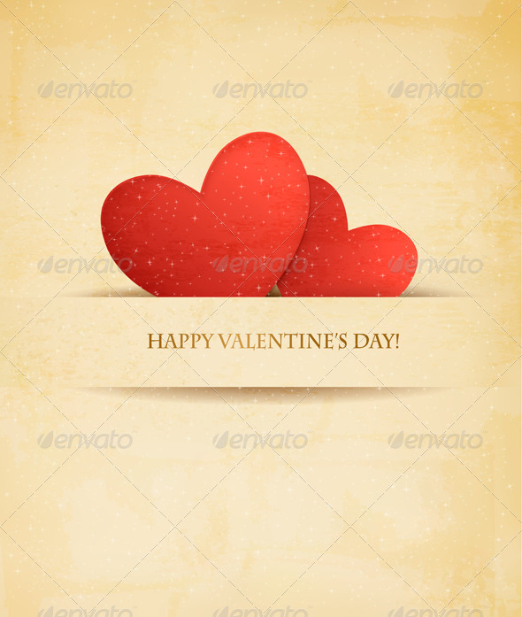 GraphicRiver Holiday Vintage Valentine`s Day Background 6790940