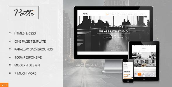 Patti - Parallax One Page HTML Template - Portfolio Creative