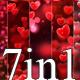 Hearts Valentine Loop 7in1 v5 - VideoHive Item for Sale