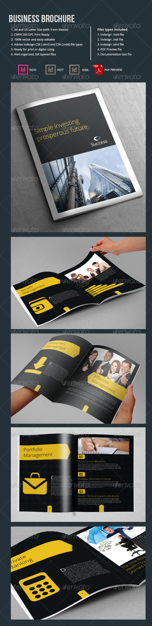 A4 Business Brochure Template 10 Pages - Corporate Brochures