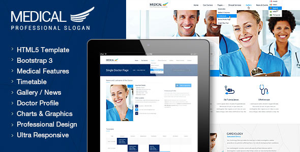 Medical - Health Clinic Responsive Template