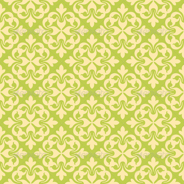 GraphicRiver Seamless Clover Damask Pattern 6791615