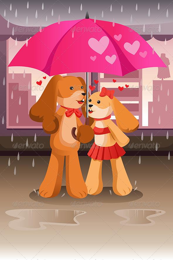 GraphicRiver Dogs in Love 6791958