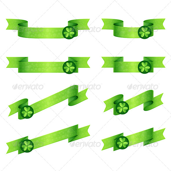 GraphicRiver Ribbons Shamrock 6792175