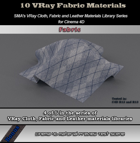3DOcean Vray Fabrics Material Pack for Cinema 4D 6792348