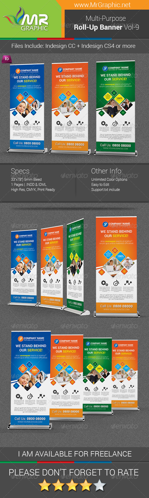 GraphicRiver Multipurpose Business Roll-Up Banner Vol-09 6792370