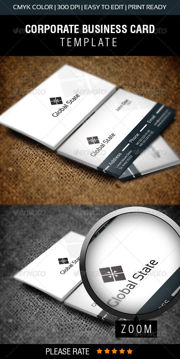 GraphicRiver Global State Business Card 6792578