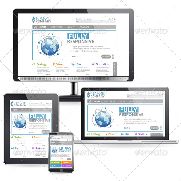 GraphicRiver Responsive Web Design 6793071