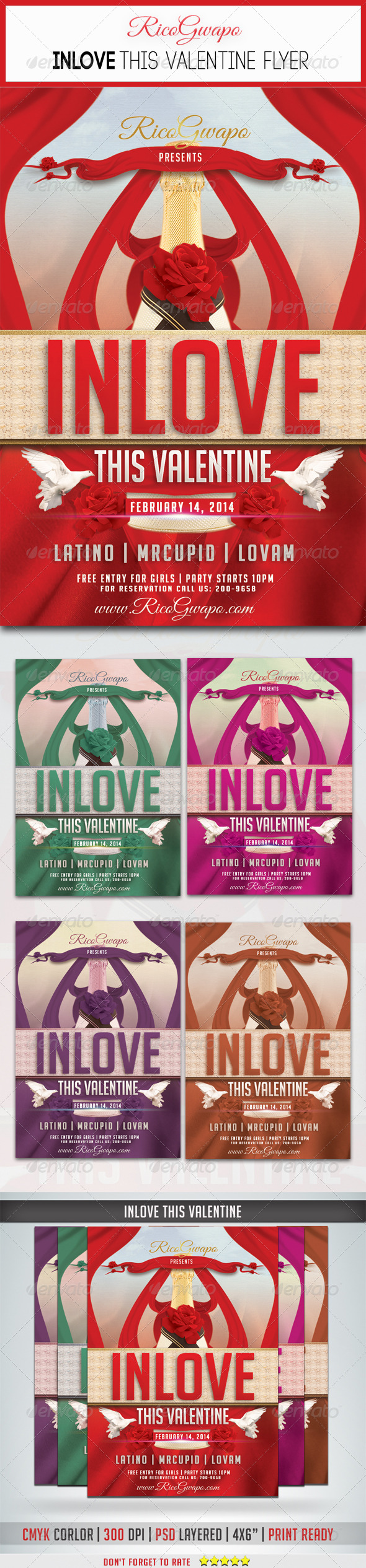 GraphicRiver Inlove This Valentine Flyer Template 6793128