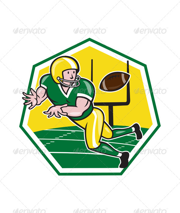 GraphicRiver American Football Wide Receiver Catching Ball Cart 6793288
