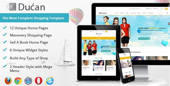 Ducan Premium Online Store, HTML Shopping Template - Shopping Retail
