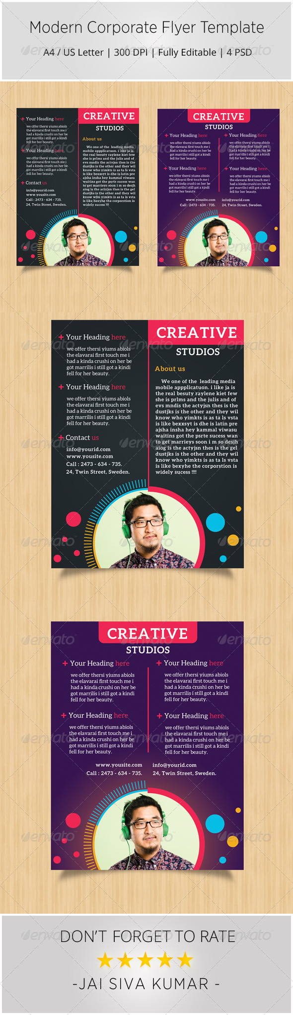 GraphicRiver Modern Corporate Flyer Template 6793324