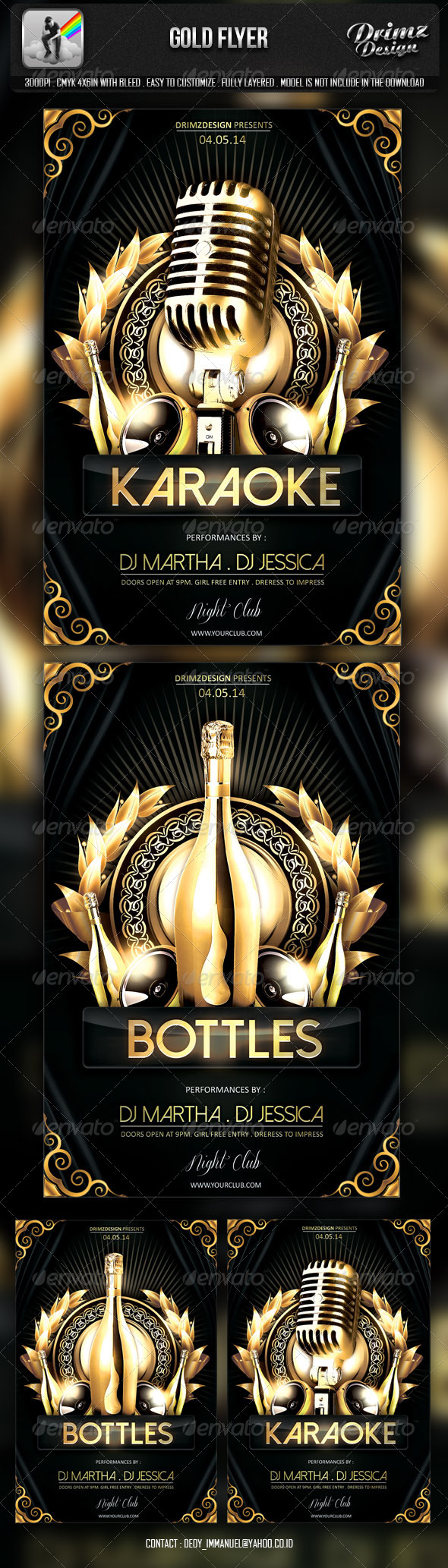 GraphicRiver Gold Flyer 6793778