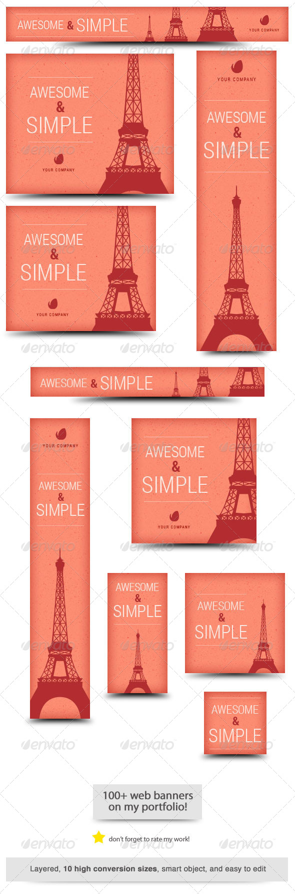 GraphicRiver Awesome and Simple Web Banner 6793910