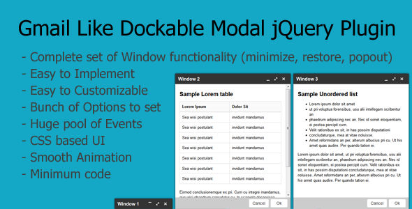 CodeCanyon Gmail like Dockable Modal Dialog Plugin 6550494