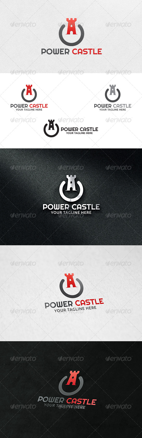 Power Castle Logo Template