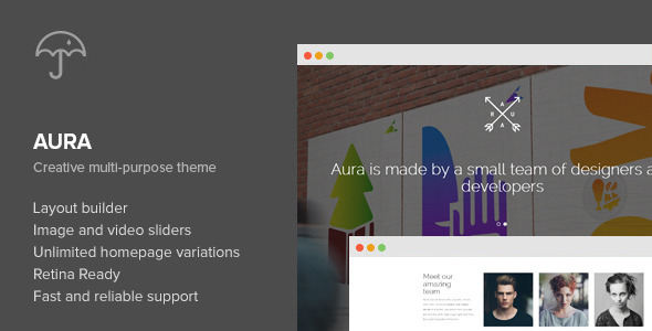 Aura - One Page Creative Multi-Purpose WP Theme - Creative WordPress