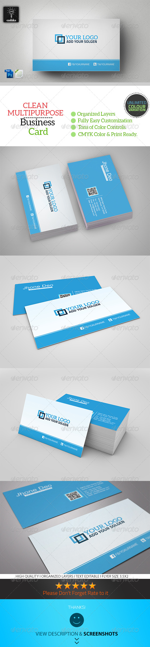 GraphicRiver Corporate Business Card Template Vol 01 6794152