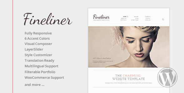 Fineliner Responsive Portfolio WordPress Theme