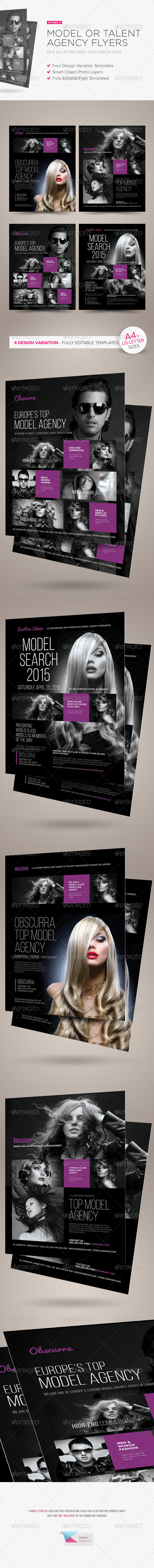 Model or Talent Agency Flyers - Corporate Flyers