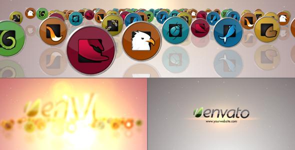 AE模板:时尚高雅三维社交媒体网站Icons图标群动画演绎标志片头模版Media Icons Logo免费下载