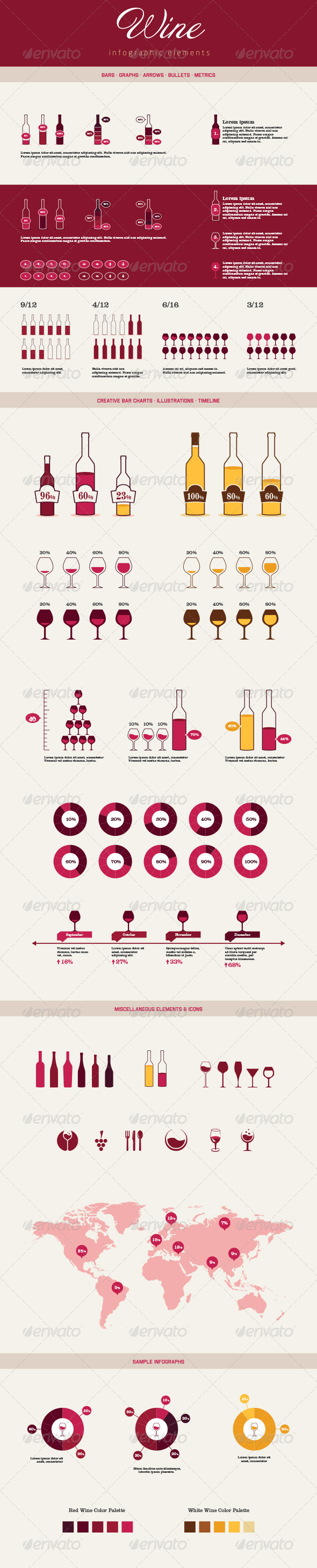 GraphicRiver Infographic Elements Wine 6794664