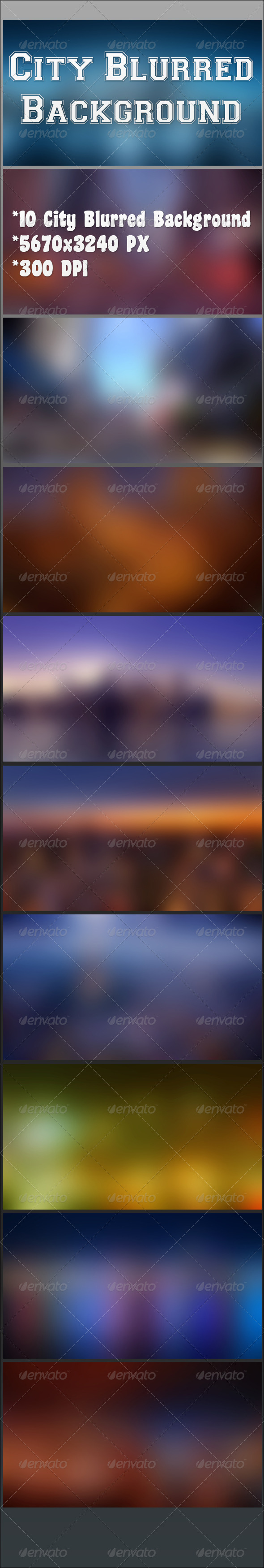 GraphicRiver City Blurred Background 6794726