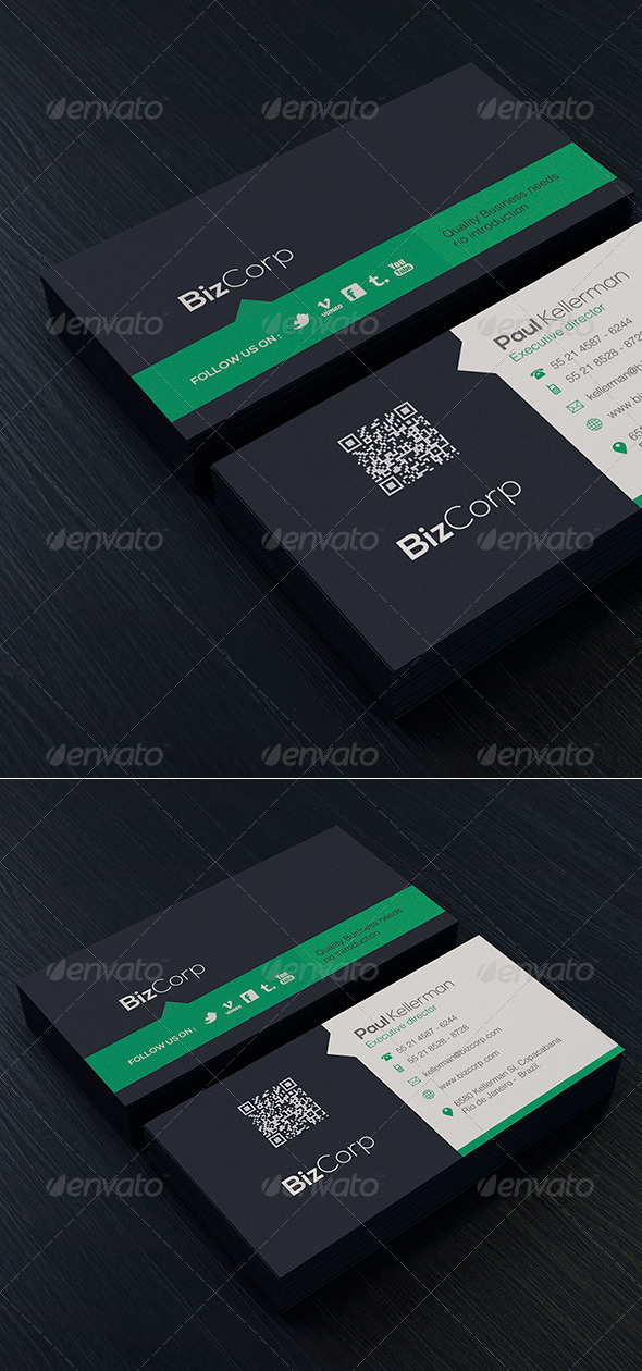 Simple and Clean Business Card Vol. 01 - Corporate Business Cards
