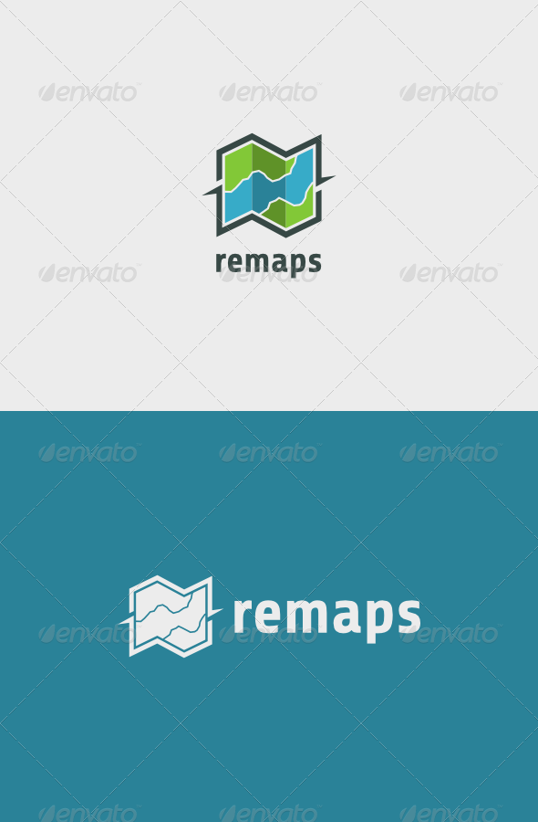 GraphicRiver Maps Logo 6795115