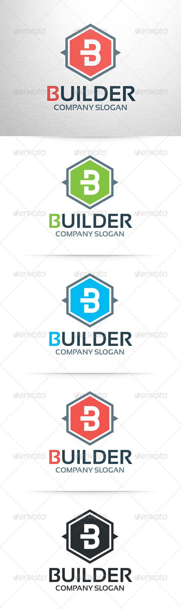 GraphicRiver Builder Letter B Logo 6795170