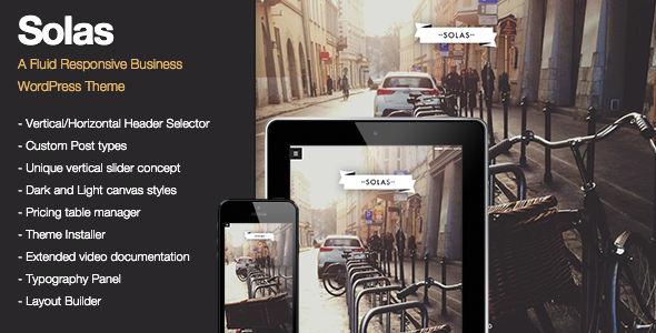 Solas - Fluid Responsive Creative Theme - Creative WordPress