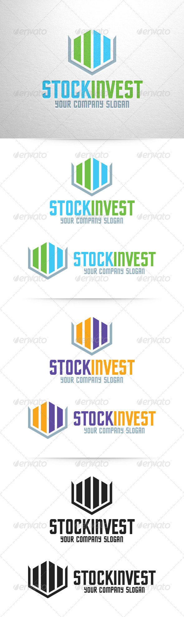 GraphicRiver Stock Invest Logo Template 6795604