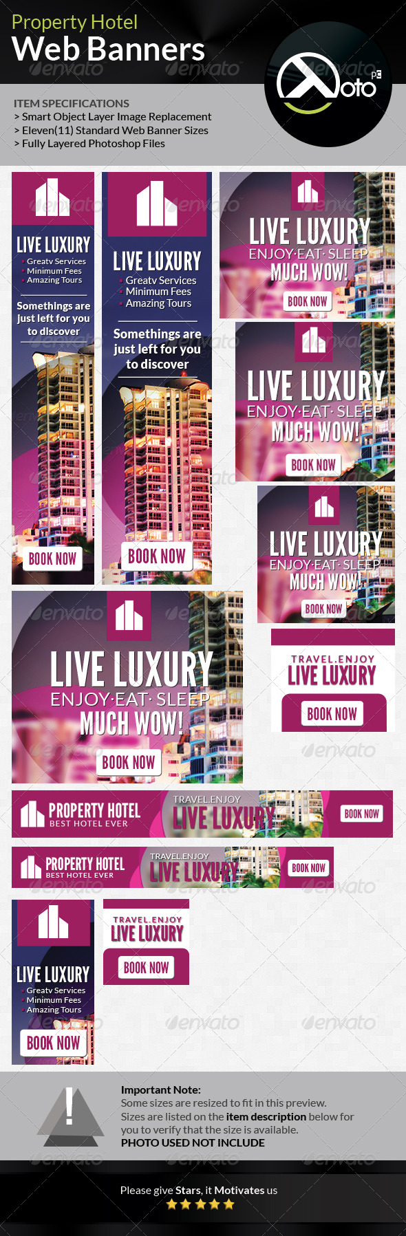 Property Hotel Web Banner - Banners & Ads Web Elements